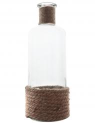Grand vase en verre avec corde 27 cm