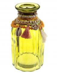 Vase en verre Mexique jaune 7 x 14 cm