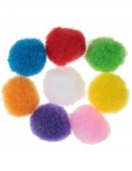 50 Pompons multicolores Mexique 2 cm