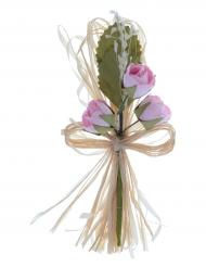 2 Bouquets artificiels de roses 12 cm