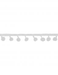 Ruban de pompons blancs 2m