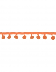 Ruban de pompons orange 2m