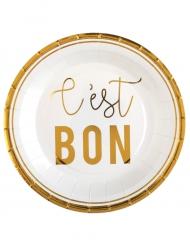 10 Assiettes en carton Petits Bonheurs 23 cm