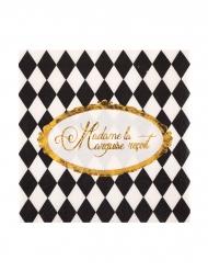 20 Petites serviettes en papier Versailles 25 x 25 cm
