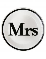 10 Assiettes en carton Mrs 23 cm