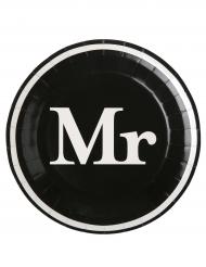 10 Assiettes en carton Mr 23 cm