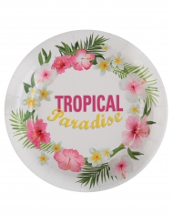 10 Assiettes en carton Tropical Paradise 23 cm