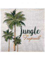 20 serviettes en papier Jungle tropicale 33 x 33 cm
