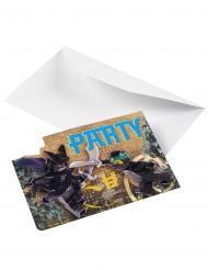 8 Cartons d'invitations Lego Ninjago™