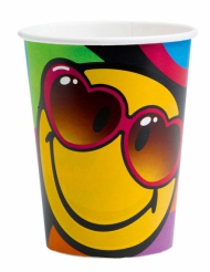 8 Gobelets en carton Smiley World™ 260 ml