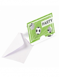 8 Cartons d'invitation Football