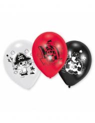 6 Ballons en latex Pirates 70 cm