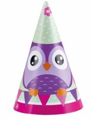 8 Chapeaux de fêtes Hibou