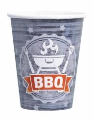 8 Gobelets en carton BBQ Party 250 ml
