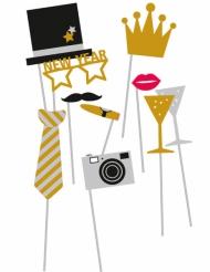 Kit Photobooth Nouvelle année 10 accessoires