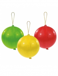 3 Ballons latex Punch balls 35.5 cm