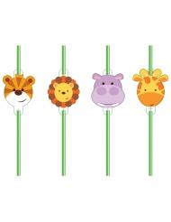 8 Pailles les Animaux de la jungle