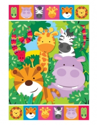 8 Sacs cadeaux les Animaux de la jungle 17 x 25 cm