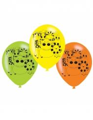 6 Ballons en latex les Animaux de la jungle 22.5 cm