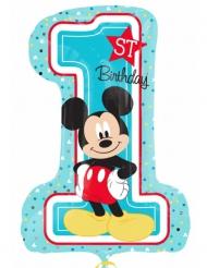 Ballon chiffre 1 aluminium Mickey™ 48 X 71 cm