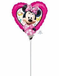 Petit Ballon cœur aluminium Minnie™ 23 x 23 cm
