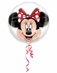 Ballon aluminium double bubble tête de Minnie™ 60 x 60 cm