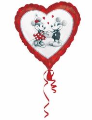 Ballon aluminium cœur Mickey™ & Minnie™ love 43 x 43 cm