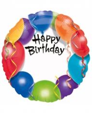 Ballon aluminium personnalisable Happy Birthday 43 cm