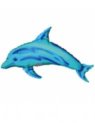 Petit ballon aluminium dauphin bleu 35 x 25 cm
