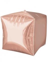 Ballon aluminium cube rose gold 38 x 38 cm