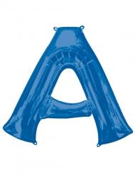Ballon aluminium lettre A bleu 86 cm