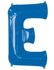 Ballon aluminium lettre E bleu 81 cm