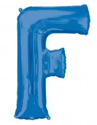 Ballon aluminium lettre F bleu 81 cm