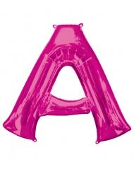Ballon aluminium lettre A fuchsia 86 cm