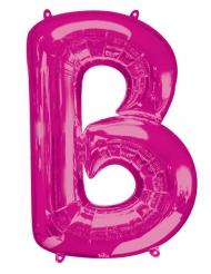 Ballon aluminium lettre B fuchsia 86 cm