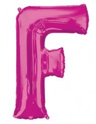 Ballon aluminium lettre F fuchsia 81 cm