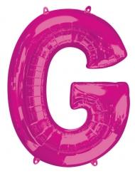 Ballon aluminium lettre G fuchsia 81 cm