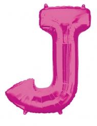 Ballon aluminium lettre J fuchsia 83 cm