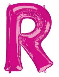 Ballon aluminium lettre R fuchsia 58 x 81 cm