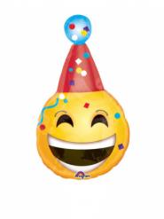 Petit ballon aluminium émotion chapeau d'anniversaire 17 x 33 cm