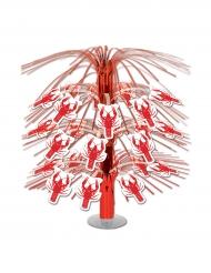 Centre de table en cascade Homard rouge 45 cm