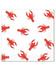 16 Serviettes en papier Homard 33 x 33 cm