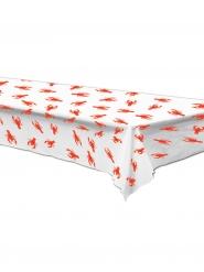 Nappe en plastique Homard blanche et rouge 137 x 274 cm