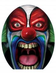 Décoration pour toilettes Clown effrayant 30 x 43 cm