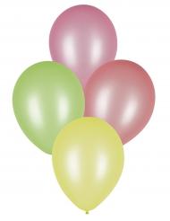 8 Ballons fluo 25 cm