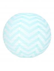 Lanterne japonaise blanche à chevrons bleus 35 cm