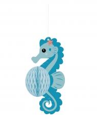 Suspension bébé hippocampe alvéolée 21 cm