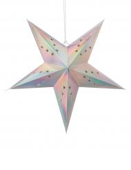 Lanterne étoile pastel irisée 60 cm