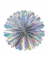 Rosace décorative éventail irisé 53 cm