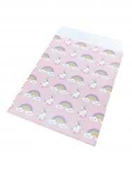 25 Sacs cadeaux en papier Bébé Licorne 17 x 13 cm